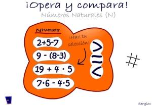 Calcula y compara